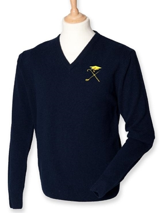 Picture of Pedagogues Golf Society Unisex LS Navy Jumper