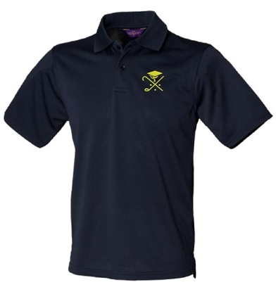 Picture of Pedagogues Golf Society Unisex  Navy Cotton Henbury Polo
