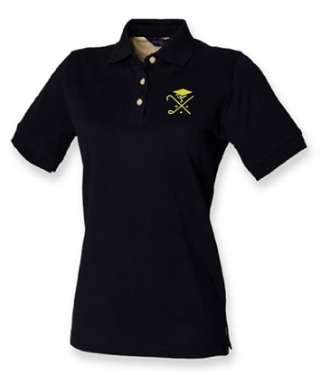 Picture of Pedagogues Golf Society Ladies Navy  Cotton Polo