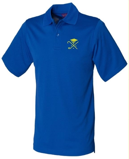 Picture of Pedagogues Golf Society Unisex  Royal Cotton Henbury Polo