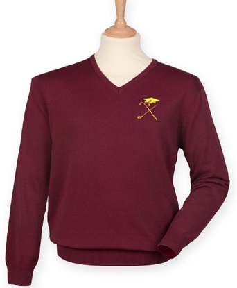 Picture of Pedagogues Golf Society Unisex LS Burgundy Jumper
