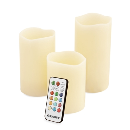 Picture of Mooncandles Vanilla Scented Wax Candles With Colour Changing Remote Control