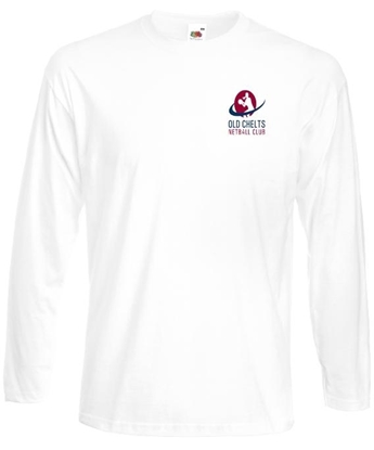 Picture of Old Chelts Adult White cotton LS Coaches T-Shirt